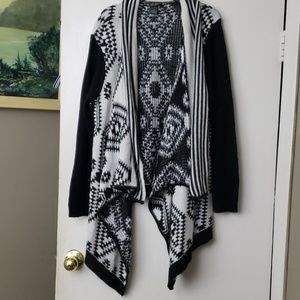 DOTS geometric open waterfall cardigan